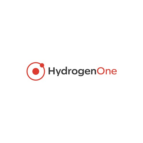 Hydro design with the title 'Logo Hydrogen One'