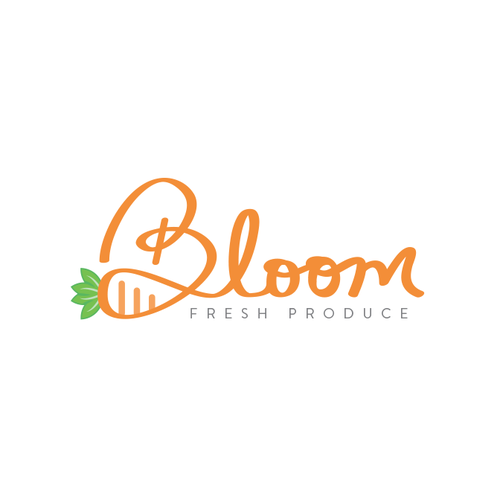 Freehand logo with the title 'Bloom logo concept'