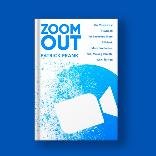 Zoom design with the title 'Book cover design'