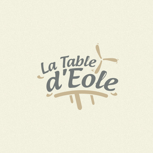 """Table logo with the title 'Logo for """"La Table d'Eole"""" !'"""