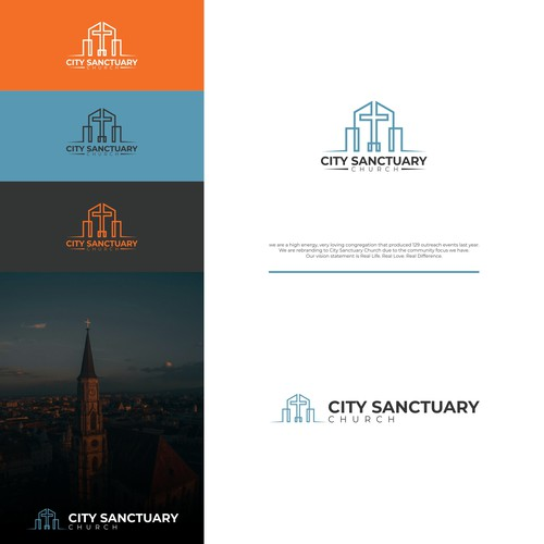 Sanctuary logo with the title 'City Sanctuary Church'