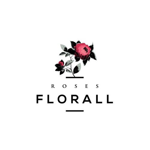 Romantic logo with the title 'Logo design for Roses Florall'
