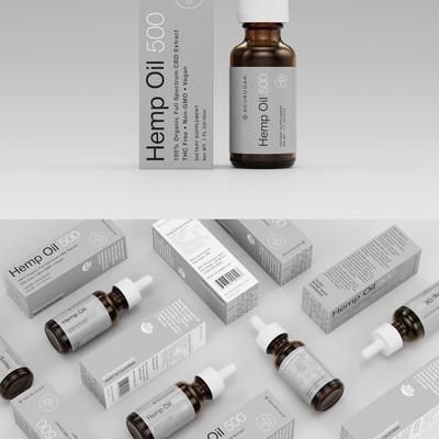 Hemp Oil Packaging Design Concept