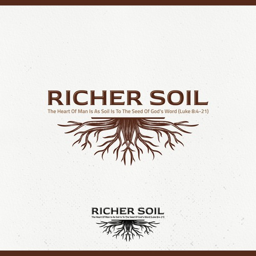 White and brown design with the title 'parable of the soils'