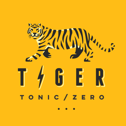 Tiger design with the title 'Logo for Tonic Water'