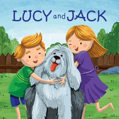 Children's book illustration with the title 'Lucy and Jack Cover'
