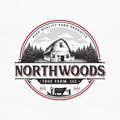 Forest logo with the title 'Northwoods'