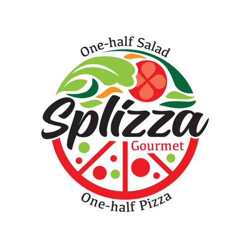 Salad design with the title 'SPLIZZA Logo'