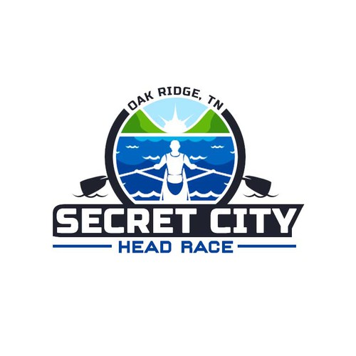 Paddle logo with the title 'Logo for Secret City Head Race'