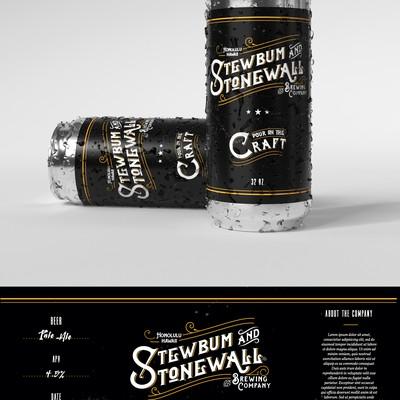 Simple label design for craft beer