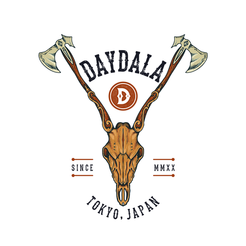 Axe design with the title 'Logo & Brand Identity for Daydala'