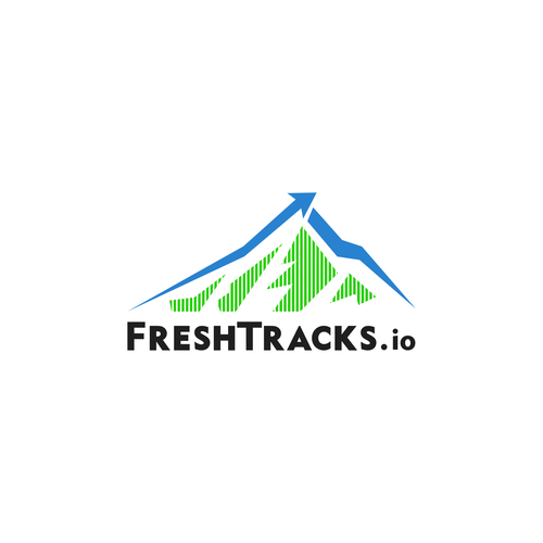 Outdoors design with the title 'FreshTracks.io, when tech meet outdoor.'