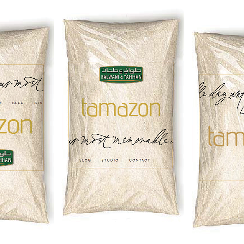 Flour design with the title 'New product packaging wanted for Halwani and Tahhan Food Company'