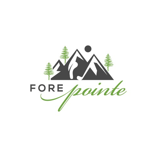 Shoe design with the title 'Design a logo for a cool mountain property!'