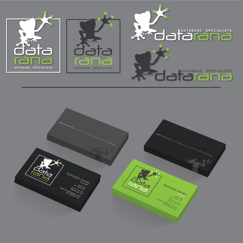 Frog brand with the title 'logo datarana'