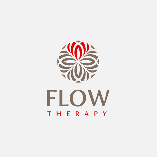 Heart logo with the title 'Flow Therapy'