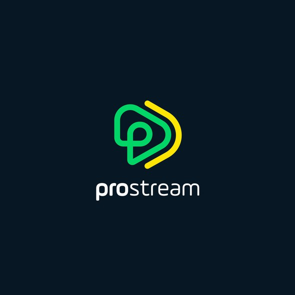 Streaming logo with the title 'contest entry-logo concept'