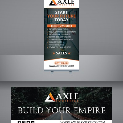 Create eye catching banners for Axle Logistics recruiting!