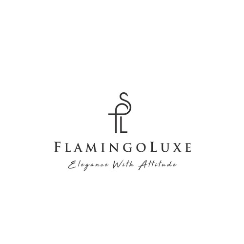 Flamingo logo with the title 'FlamingoLuxe'