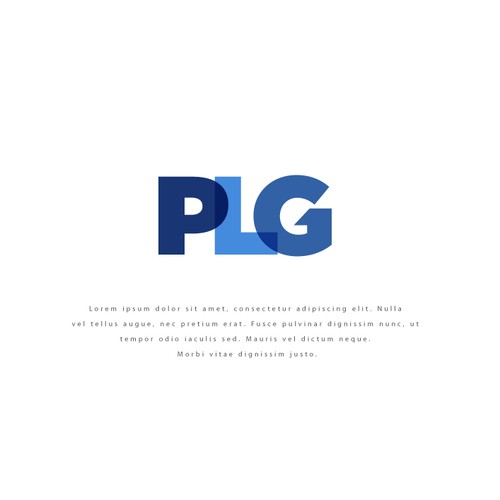 Business logo with the title 'PLG'