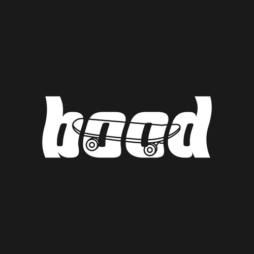 Skateboard design with the title 'Bood'