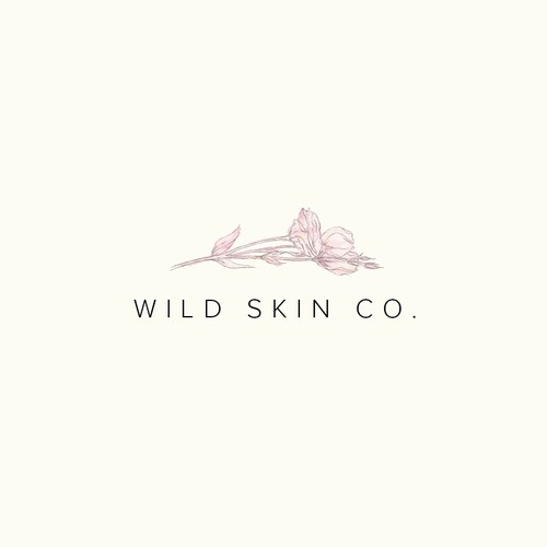 Watercolor logo with the title 'Logo concept for a cosmetics brand'
