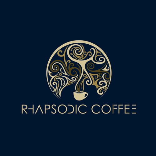 Harmony logo with the title 'Rhapsodic Coffee'