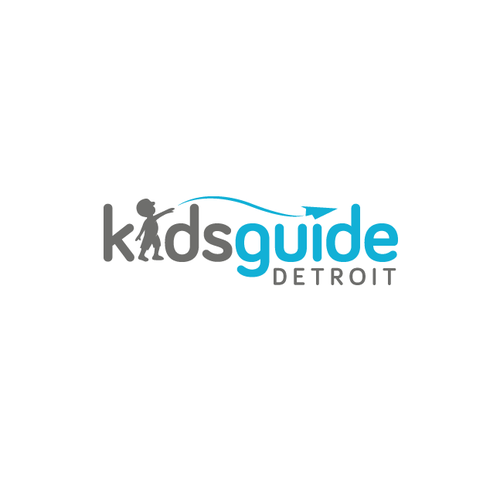Boy and girl logo with the title 'Kids Guide Detroit'