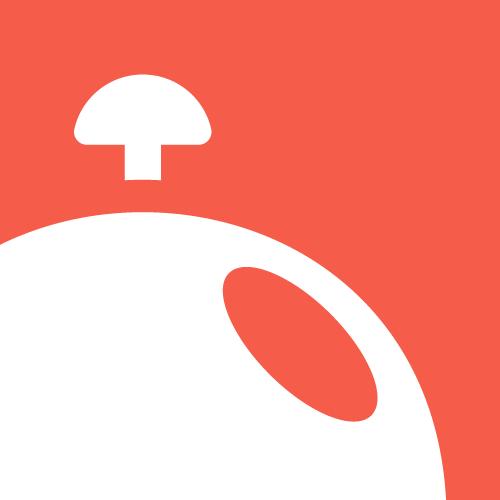 Orange illustration with the title 'Desk Bell Logo'