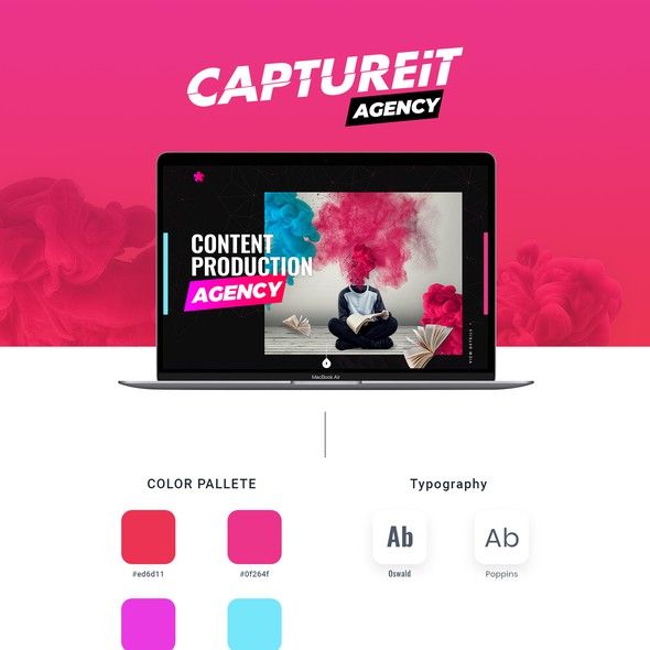 Aesthetic website with the title 'Marketing Agency website (cool shit)'
