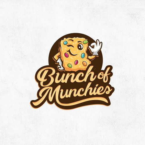 Script font design with the title 'Bunch of Munchies'