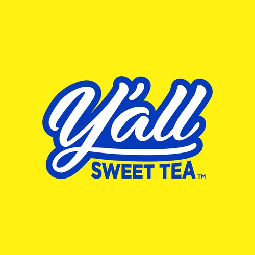 Fun logo with the title 'Y'all sweet tea'