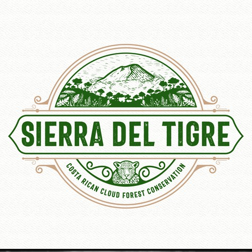 Modern vintage logo with the title 'Sierra Del Tigre'