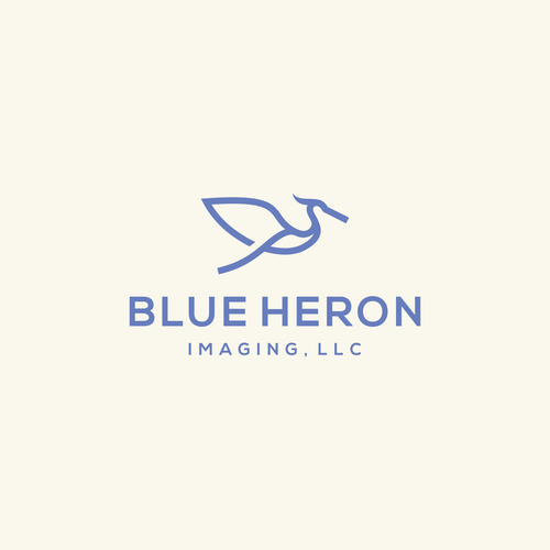 Heron logo with the title 'Blue Heron Imaging'