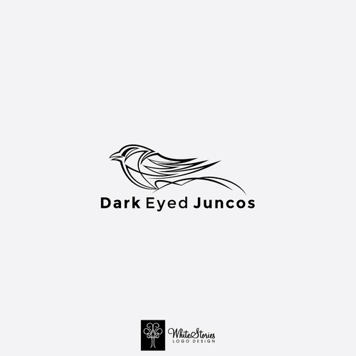 Band logo with the title 'Dark Eyed Juncos'