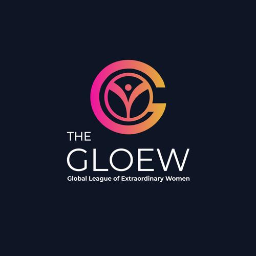 Neon logo with the title 'The Gloew | Beauty Logo | Luxury logo'