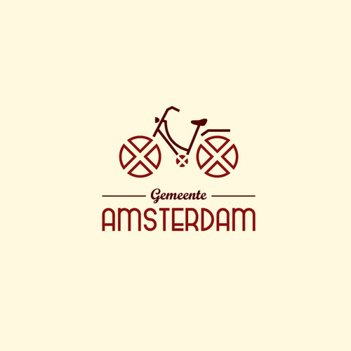 Electric bike logo with the title 'Community Contest: create a new logo for the City of Amsterdam'