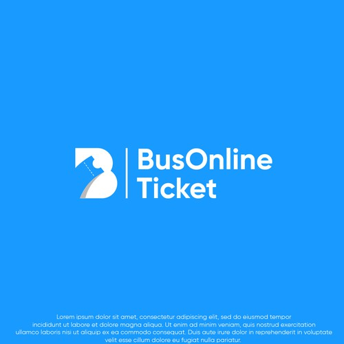 Shuttle service logo with the title 'Bus online ticket logo'
