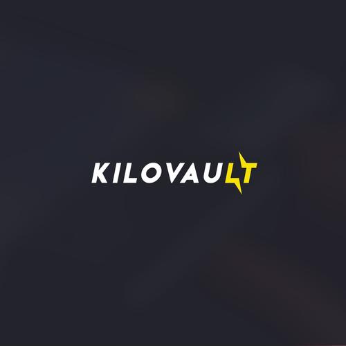 Volt design with the title 'Kilovault logo'