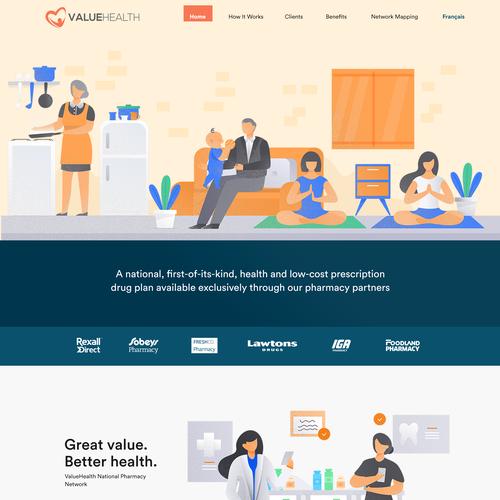 Nurse design with the title 'Valuehealth Web Design concept'