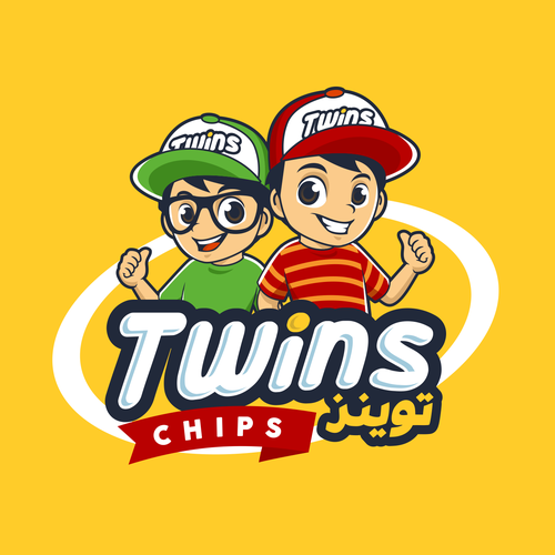 Snacks design with the title 'Twins Arabic Snack'