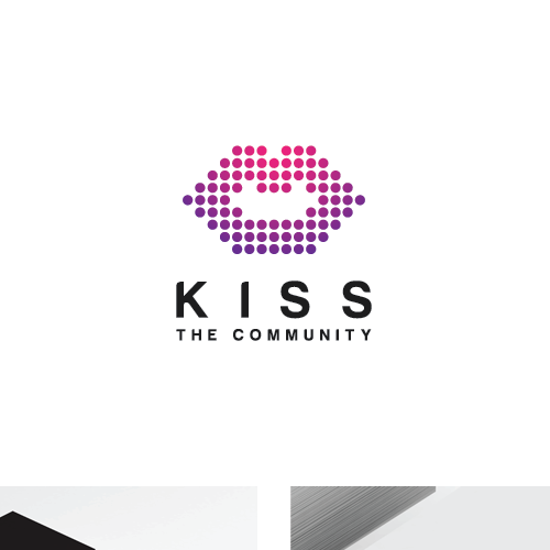 Mouth logo with the title 'Kiss logo'