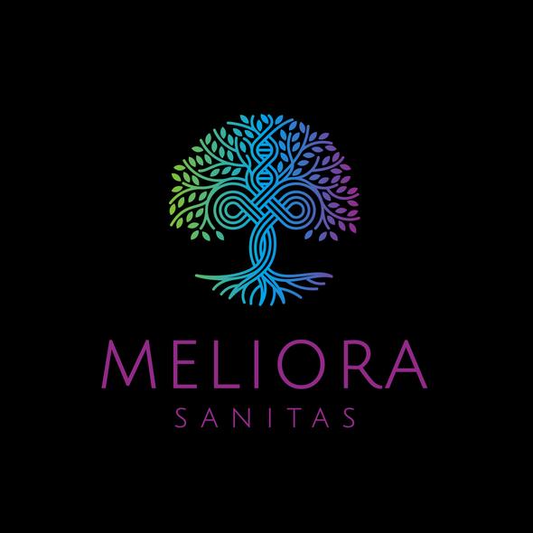 Tree of life design with the title 'Meliora Sanitas'