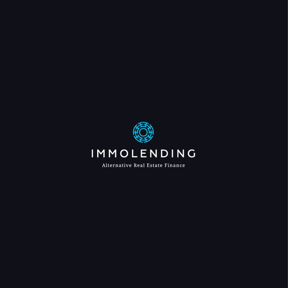Crowdfunding logo with the title 'Immolending Logo'