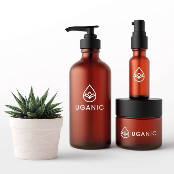 Hemp oil logo with the title 'Uganic logo'
