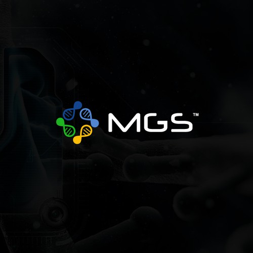 Chemistry design with the title 'MGS Logo'