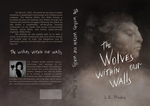 Wolf book cover with the title 'the wolves within our walls'