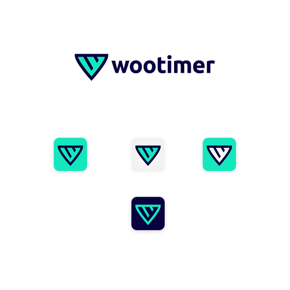 Web logo with the title 'Winning Logo Contest - Wootimer'