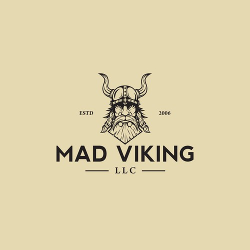Viking ship logo with the title 'Logo design for MAD VIKING'