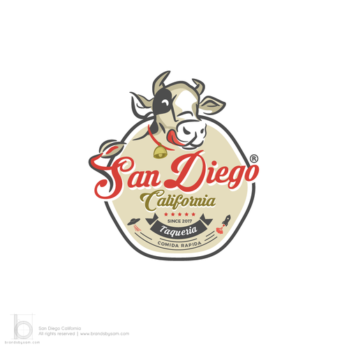 Meat logo with the title 'Logo Design for San Diego Califonia'